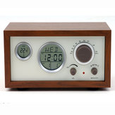 SY-601 Retro Design Wooden Compact Digital FM Radio with LED Time temperature Display Alarm Clock
