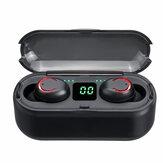 F9-8 TWS Trådløs Bluetooth LED Display Høretelefoner Stereohovedtelefoner IP67 Vandtæt hovedtelefon med mikrofonopladningsboks