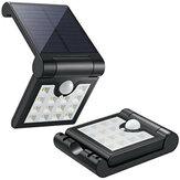 14 LED Solar Induction Składana lampa ścienna PIR Kinkiet z czujnikiem ruchu Wodoodporne światło słoneczne zasilane energią słoneczną do dekoracji ogrodu