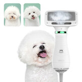 2 in 1 Pet Grooming Hair Dryer Blower with Slicker Slicker Brush Adjustable Temperature Low Noise for Cat Dog Pet Grooming Tool