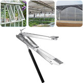 Aluminum + Stainless Steel Automatic Window Opener For Double Spring Greenhouse With 15kg Load-Bearing Capacity