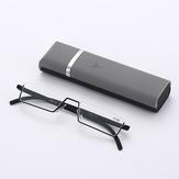 نصف إطار حامل القلم المحمولة دائم ضوء وزن نظارات القراءة الراتنج رمادي مكافحة الأزرق ضوء