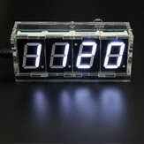Geekcreit DIY 4 Digit LED Electronic Clock Kit Versi Kontrol Lampu Suhu