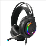 Gaming Headset 3.5mm Channel Colorful RGB Luminescent Headset Gaming Headphone Stereo Headphones Earphone