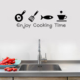 Cartoon Enjoy Tempo di cottura Cucina Wall Sticker PVC Murale Art Decalcomanie Adesivi Sfondo Home Decor