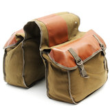 Motorcycle Side Side Saddle Bag Canvas Bagage Khaki Bag