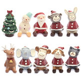 Lovely Christmas Wedding Santa Animals Decoration Cute Resin Gift Home Decor Furnishings
