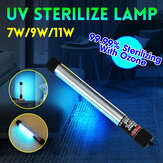 7W-11W UVC Ozone UV Blue-ray Germicidal Lamp Tube Sterilizer Disinfection Light Lamp UVC Germicidal Lamp Sterilizer