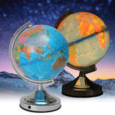 Illuminated Lamp Rotating World Earth Globe Ocean Desk Globe LED Night Light