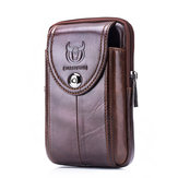 Bullcaptain® Mannen Originele Leather Belt Bag Vintage Telefoonhouder Multifunctionele Fanny Pack