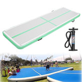 118x35x4inch Green Color Airtrack Gymnastics Mat Floor Inflatable GYM Air Track Mat Home Tumbling Rolling Mat With Hand Pump
