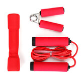 3Pcs/Set Skipping Rope Fitness Heavy Hand Gripper Dumbbells Muscle Strength Training Tools