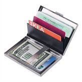 Metal Bank Credit Card Holder Anti Protect Travel ID Cardholder Men Wallet Metal Case Business Card Box Gifts Supplies