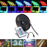 0.5 / 1/2/3/4 / 5M SMD5050 RGB impermeável LED Strip Light TV Backlilghting Kit + USB Controle Remoto DC5V