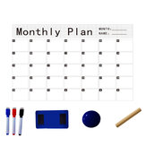 Magnetic Calendar Sticker Soft Whiteboard Set Drawing Board Removable Refrigerator Stick Message Board Erasable Month and Week Schedule