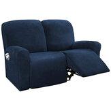 Capa de sofá de veludo de 2 lugares com elástico removível protetor de assento de cadeira Capa extensível com bolso lateral Decoração de acessórios de móveis de escritório doméstico