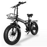 [Directo de la UE] CMACEWHEEL GW20 48v 15Ah 750W 20in Bicicleta eléctrica plegable 30-45km / h Velocidad 80-100KM Kilometraje Freno de disco Bicicleta eléctrica