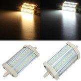 R7s regulable LED bombilla de 10w 118mm 27 SMD 5630 puro / caliente de la lámpara de luz blanca de la CA 85-265V blanco