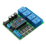 4 Kanal til Pro Mini Expansion Board Diy Multi-Funktion Delay Relay PLC Power Timing Device