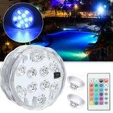 Su geçirmez IP68 Dalgıç RGB LED Sualtı Işık Uzakdan Kumanda Fıskiye Yüzme Havuz Lamba
