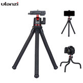 Ulanzi MT-11 Octopus Flexible 1.2KG Payload Black Tripod with 2 in 1 Phone Clip for DSLR Camera Smartphone