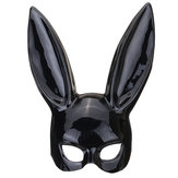 Hallowmas Sexy Cosplay Mask Bar Ball Masquerade Bunny Girl Rabbit Face PVC Mask