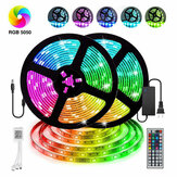12V LED Light Strip 5M/10M/15M 16.4ft/32.8ft/49.2ft 5050 RGB LED Tape Lights RGB Rope Lights 16 Milions Colors Flexible Changing LED Strip Lights with Remote for TV Bedroom Party Home Lighting Kitchen Bar