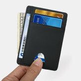 Kadın ve Erkek Hakiki Deri Kart Tutucu Karbon Fiber Desen RFID Çoklu kart Yuvası Cüzdan