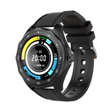 BlitzWolf® BW-HL3 Full-touch Screen Heart Rate Blood Pressure Oxygen Monitor Running Route Track BTV5.0 Smart Watch Only Black Color