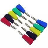 100Pcs P3002 Red+Black+Green+Blue+Yellow 20Pcs Each Color 4mm Stackable Nickel Plated Speaker Multimeter Banana Plug Connector Test Probe Binding