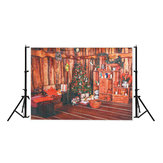 7x5FT Red Christmas Tree Living Room Photography Backdrop Studio Prop Background