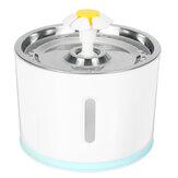 Fonte de água potável automática para animais de estimação 1.5W 100 ~ 240V com LED Mute Water Dispenser-EU / US Plug