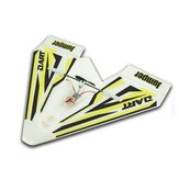 Jumper W280 Dart 280mm Wingspan Indoor Park Flyer Mini Paper RC Avião BNF para Trainer Beginner