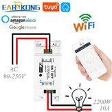 EARYKONG Przełącznik WiFi Inteligentny uniwersalny wyłącznik czasowy Zdalne sterowanie kompatybilne z inteligentną aplikacją Smart Life Alexa Google Home Tuya