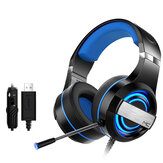 MC Q9 Wired Game Headphone USB 7.1 Channel 4D Surounding Sound 50mm Driver RGB Gaming Headset with Mic for Computer PC Gamer