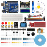 Geekcreit® Starter Kit para Arduino UNO R3 ATmega328P com 15 lições Tutorial compatível com Arduino IDE Mixly para iniciantes