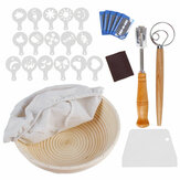 Complete Bread Proofing Basket Set Beginner Bread Baking Stencils Tool Kits