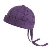 Tampão traseiro ajustável da correia traseira dos chapéus brimless mornos unisex da manta