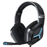 ONIKUMA X9 casque de jeu Gamer casque son Surround stéréo écouteurs filaires USB Microphone lumière bleue pour PC ordinateur portable