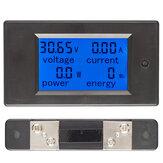 50A تيار منتظم رقمي متعدد الوظائف الجهد الحالي القوة الطاقة الكهربائية متر البطارية اختبار مع 50A sh
