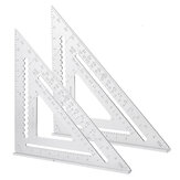 Aluminum Alloy Angle Square Triangle Ruler Roofing Carpenter Woodworking Tool