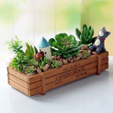 Honana HG-GP5 Многофункциональный Vintage Natural Wood Garden Planter сочной Прямоугольник Цветочный горшок