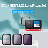 TELESIN CPL+ND8/ND16/ND32 Filter Lens Set 2-Sided Anti-Reflective Coating for Insta360 ONE R 4K Action Camera