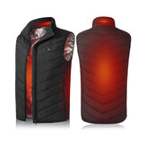 Unisex Electric Vest Heated Jacket USB Winter Body Warmer Windproof Gilet Coats