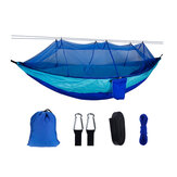260x140cm Double Outdoor Travel Camping Hanging Hammock Bed W/ Mosquito Net Kit