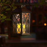 Lanterna suspensa de energia solar LED Lâmpada estilo retro luz externa / interna para decorações de Natal