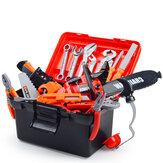 46/47 Pcs Simulation Wartung Elektrobohrmaschine DIY Bauwerkzeug Set Rollenspiel Lernspielzeug für Kinder Geschenk