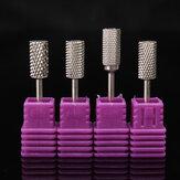 4 قطع الكهربائية كربيد مسمار ملف لقم كيت البولندية أسطواني مانيكير أدوات