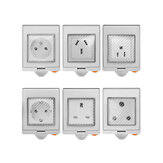 SONOFF® S55 Vandtæt WIFI Smart Socket Switch UK / AU / US / FR / DE / ZA Wifi Socket med flere versioner fungerer sammen med Alexa Google Home