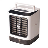 3 in 1 480ml White Mini Portable USB Air Cooler Humidifier Purifier Cleaner 4 Gears LED Light Personal Space Air Cooling Fan